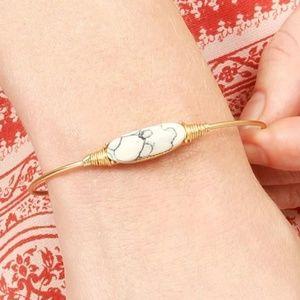 Natural Stone Gem Bracelet- Marble